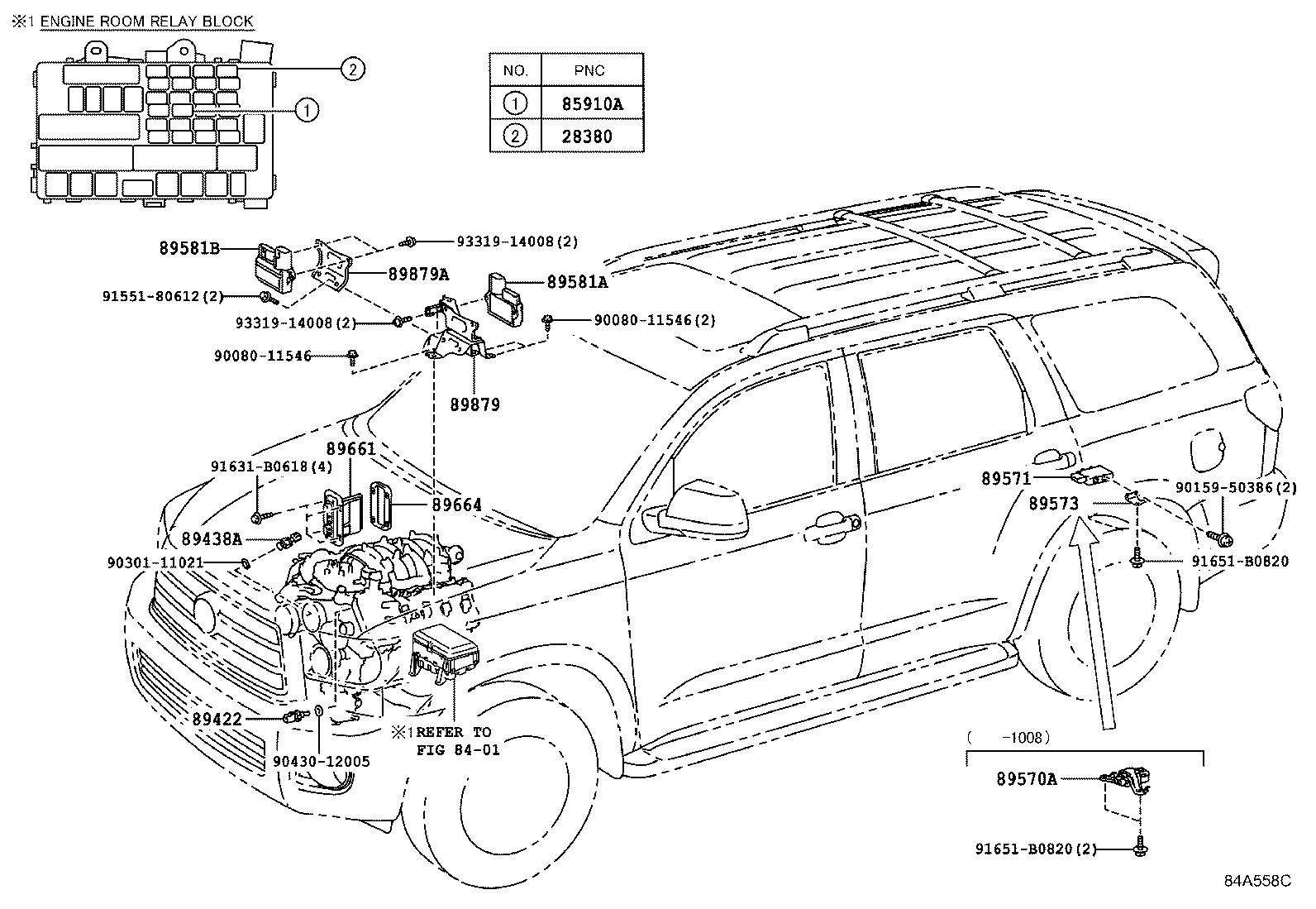 Diagram ELECTRONIC FUEL INJECTION SYSTEM for your 2017 Toyota Sequoia
