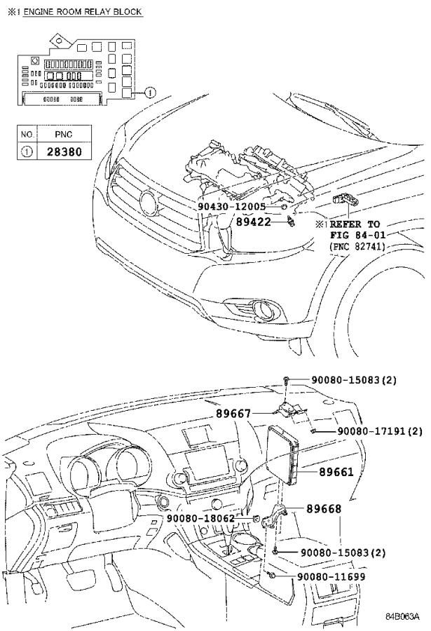 Diagram ELECTRONIC FUEL INJECTION SYSTEM for your 2011 Toyota Highlander
