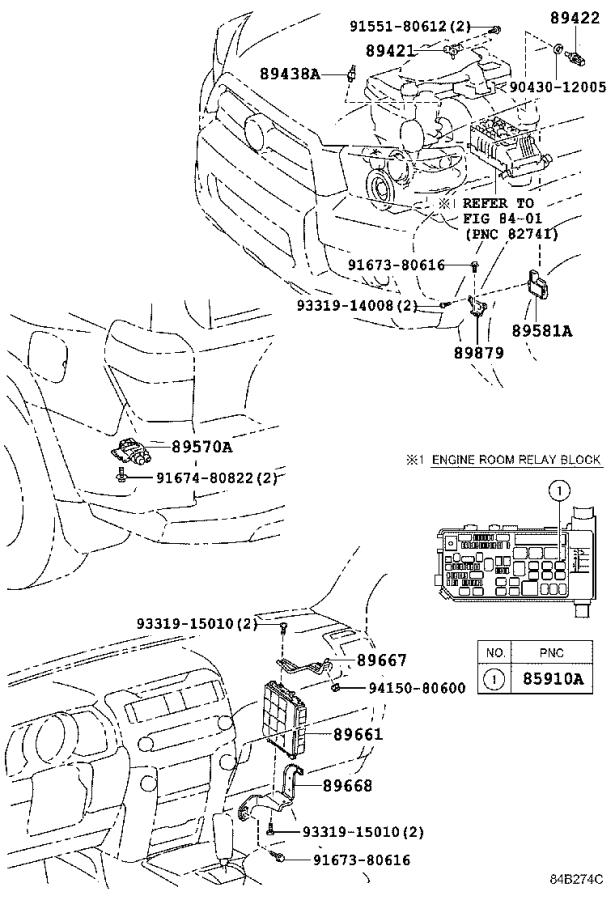 Diagram ELECTRONIC FUEL INJECTION SYSTEM for your 2010 Toyota 4Runner