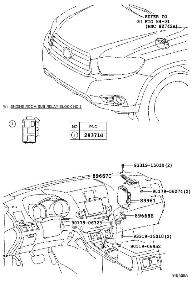 Diagram HV CONTROL COMPUTER for your 2011 Toyota Highlander