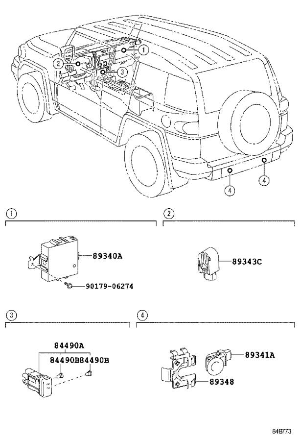 Diagram CLEARANCE & BACK SONAR for your 1994 Toyota 4Runner