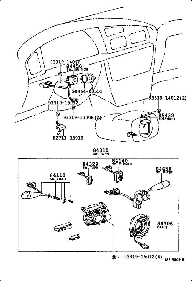 Diagram SWITCH & RELAY & COMPUTER for your 2005 Toyota Corolla