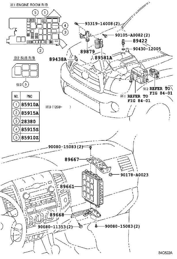 Diagram ELECTRONIC FUEL INJECTION SYSTEM for your 2009 Toyota Tacoma
