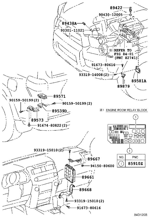 2017 Toyota 4runner Computer  Engine Control  Replaced By