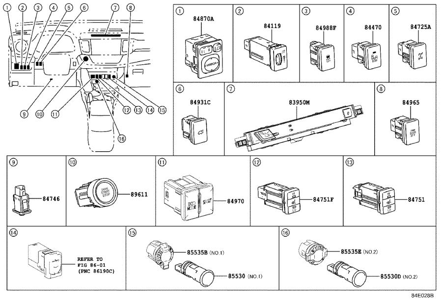 Diagram SWITCH & RELAY & COMPUTER for your 2009 Toyota RAV4