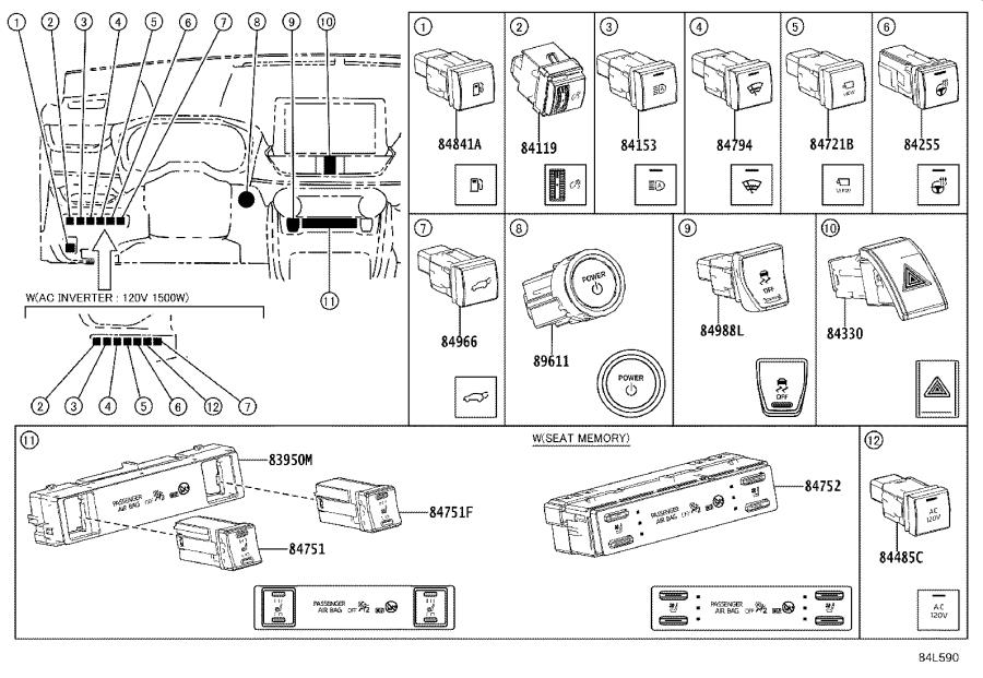 Diagram SWITCH & RELAY & COMPUTER for your 2021 Toyota RAV4 PRIME