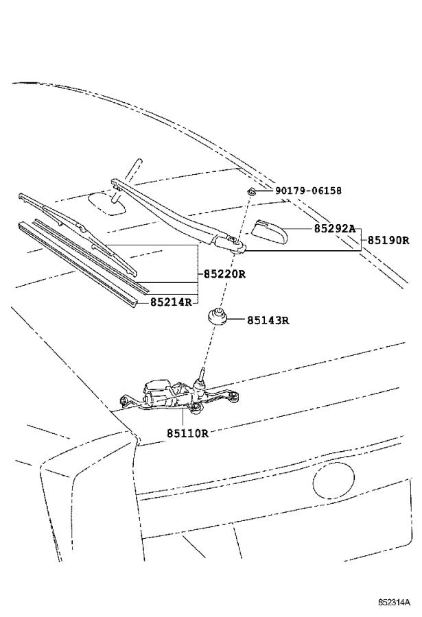 Diagram REAR WIPER for your 2012 Toyota Prius Five