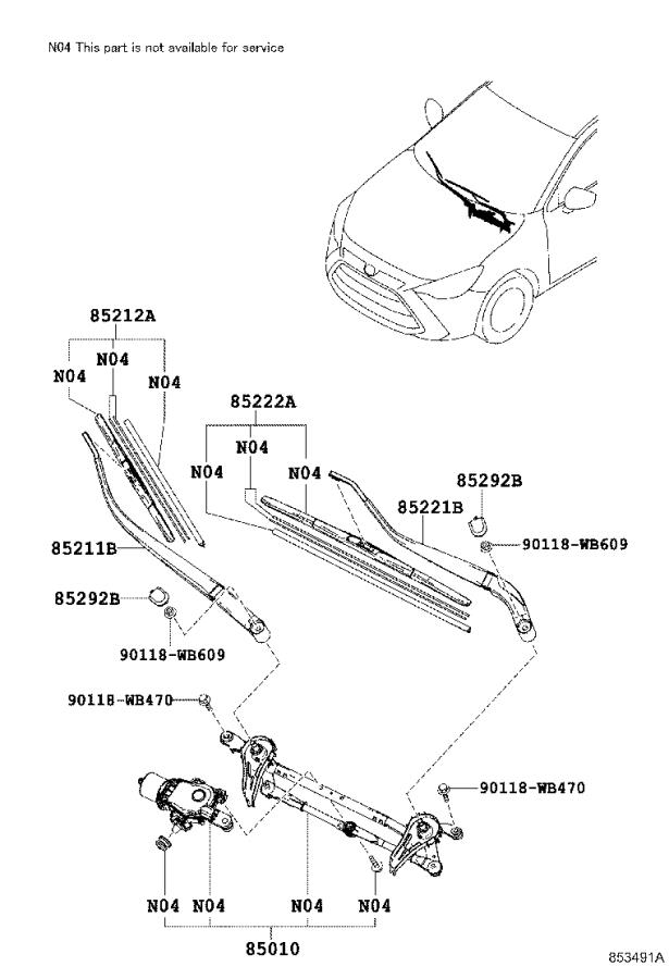 A A on Toyota Yaris Oem Parts Diagram