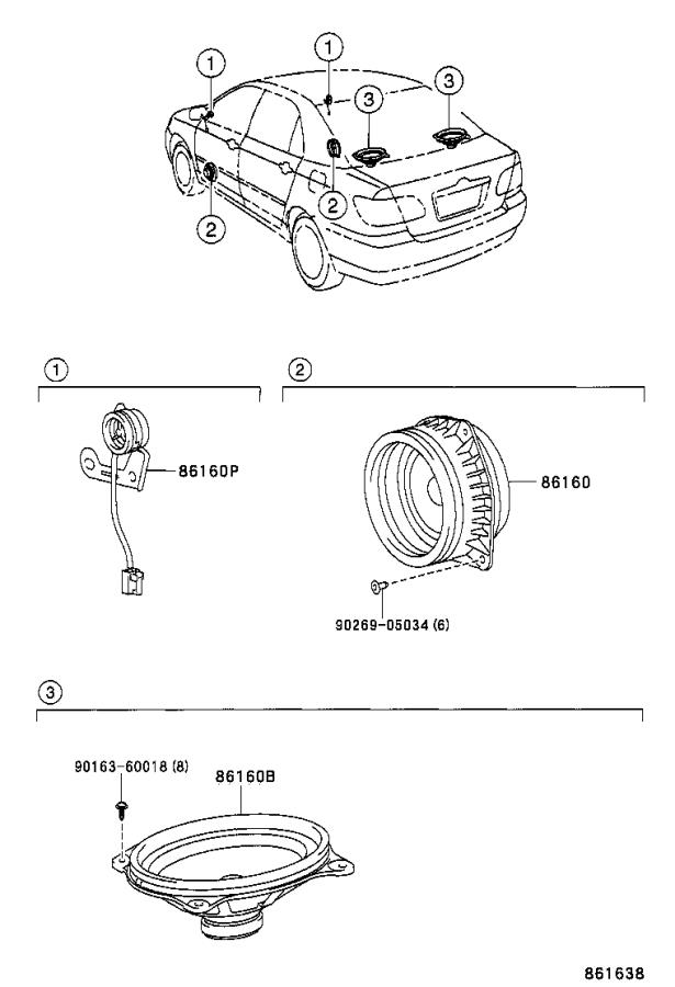 Diagram SPEAKER for your Toyota Corolla