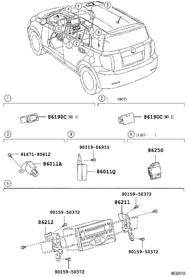 Diagram RADIO RECEIVER & AMPLIFIER & CONDENSER for your 2015 Toyota Camry