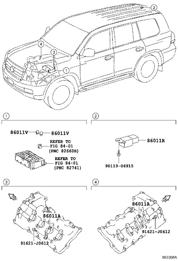 Diagram RADIO RECEIVER & AMPLIFIER & CONDENSER for your 2009 Toyota Land Cruiser