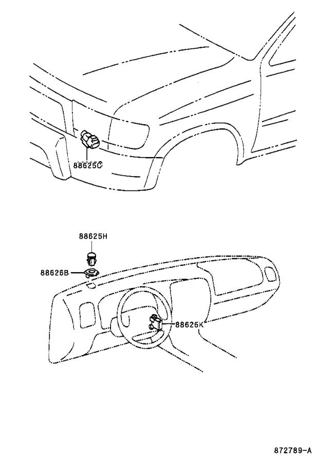 Diagram HEATING & AIR CONDITIONING - CONTROL & AIR DUCT for your 1985 Toyota 4Runner
