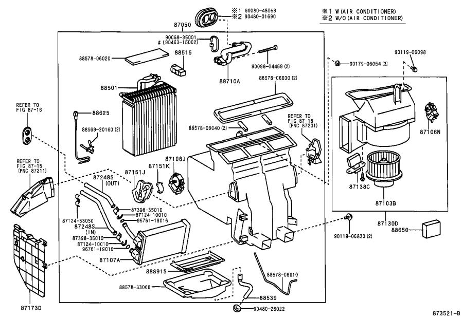 toyota solara amplifier assembly  air conditioner  no  1