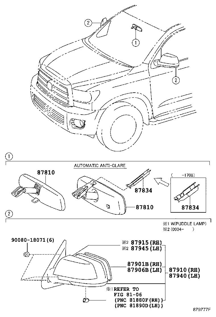 Diagram MIRROR for your 2007 Toyota Land Cruiser
