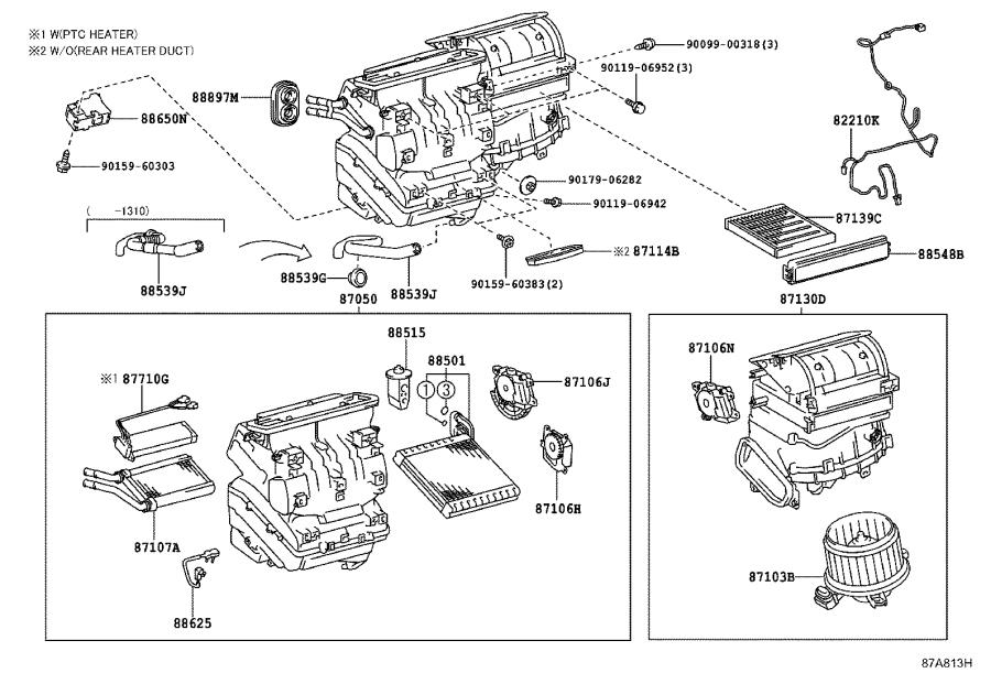 2015 toyota prius amplifier assembly  air conditioner