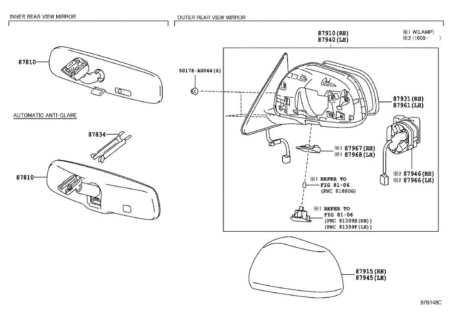 Diagram MIRROR for your 2020 Toyota Tundra
