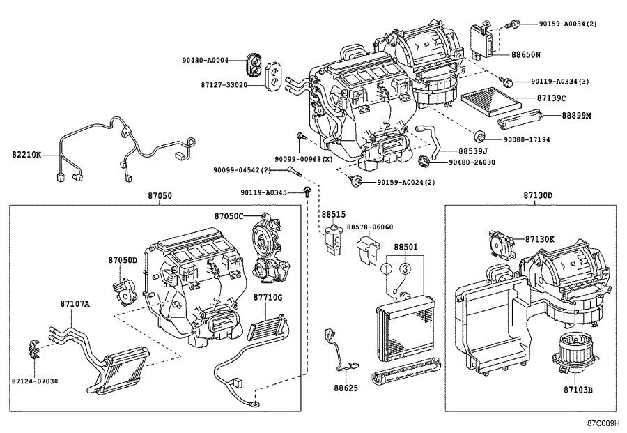 Diagram HEATING & AIR CONDITIONING - COOLER UNIT for your 2015 Toyota Camry XLE
