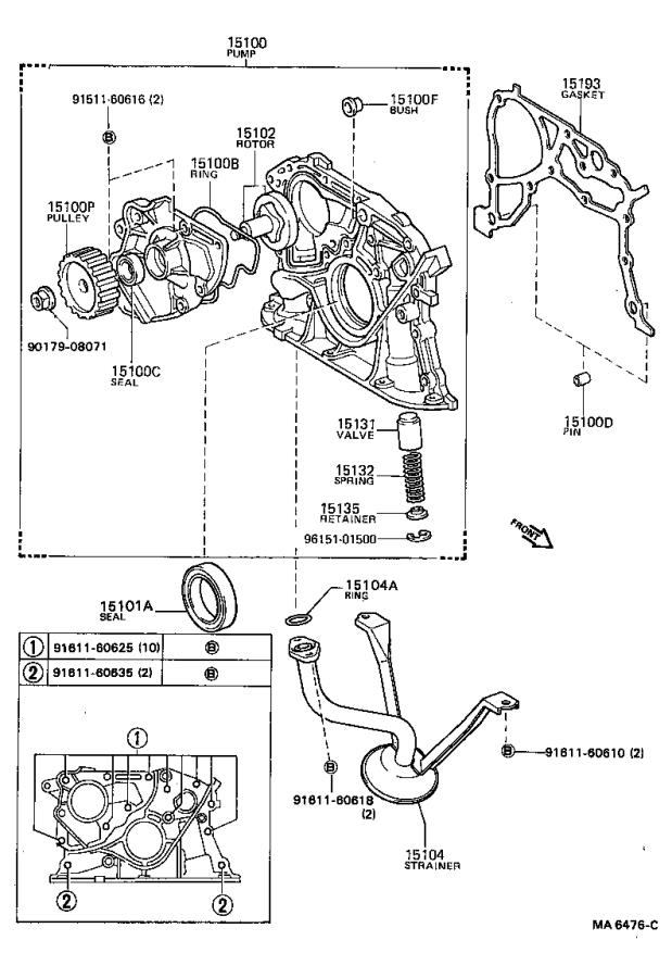 Toyota Camry Engine Oil Pump Gasket - 1518863010
