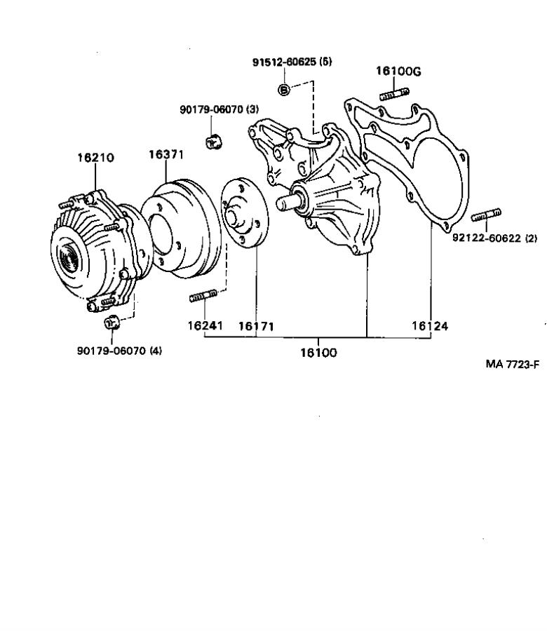 Diagram WATER PUMP for your 2006 Toyota 4Runner