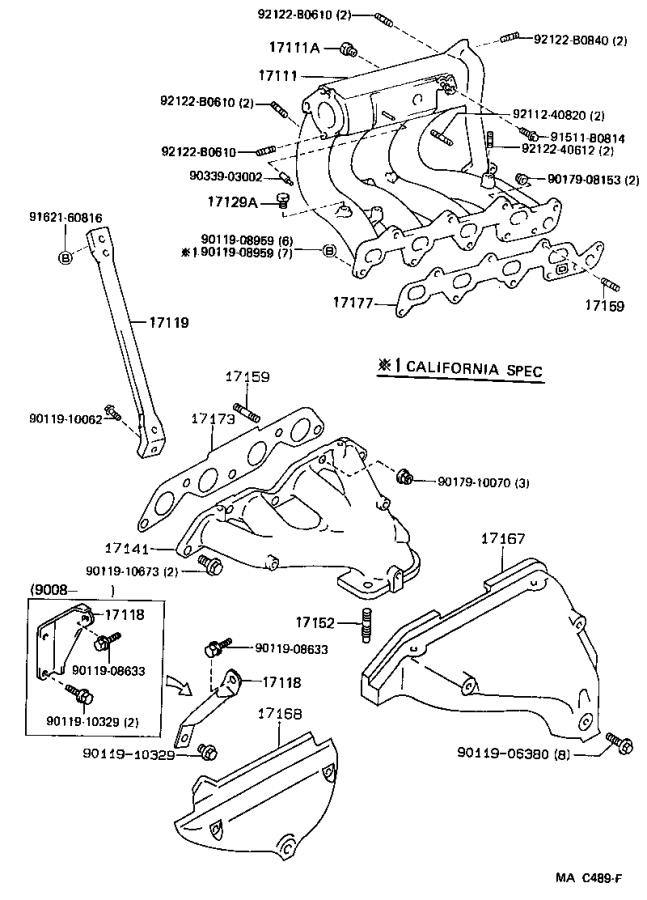 Diagram MANIFOLD for your 1991 Toyota Corolla