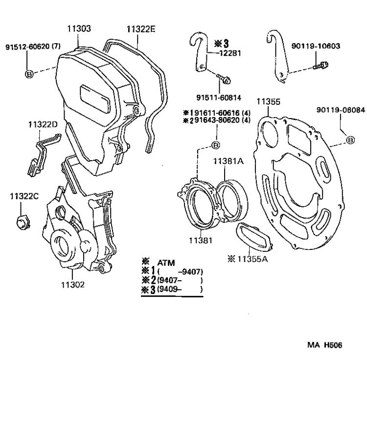 1135510012 on diagrams of a 1995 toyota tercel timing belt