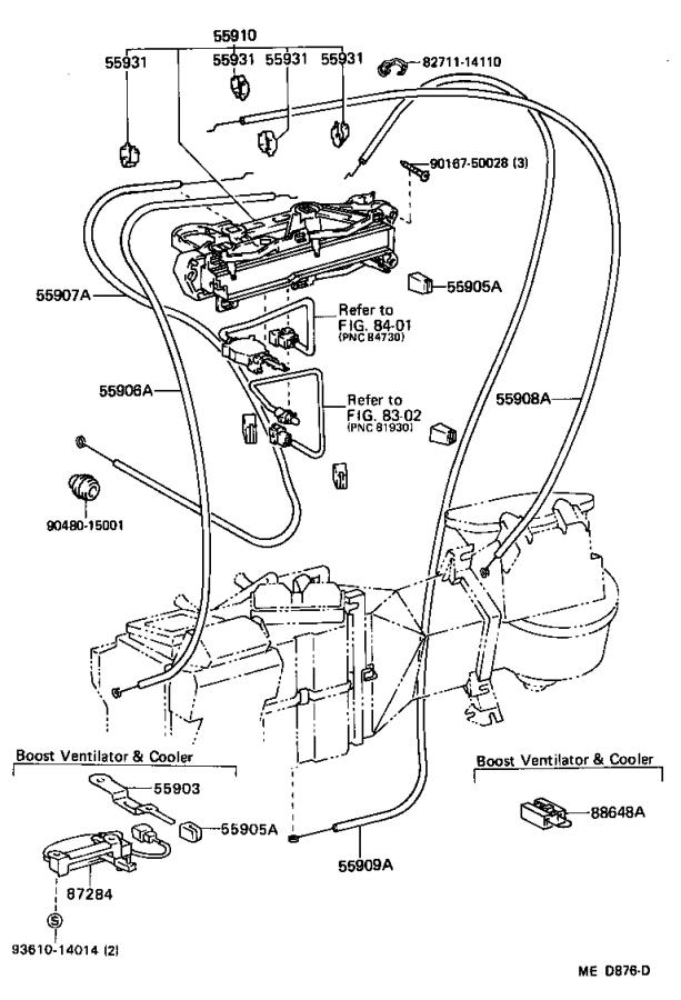 1988 Toyota 4runner Clamp  Wiring Harnes  Air