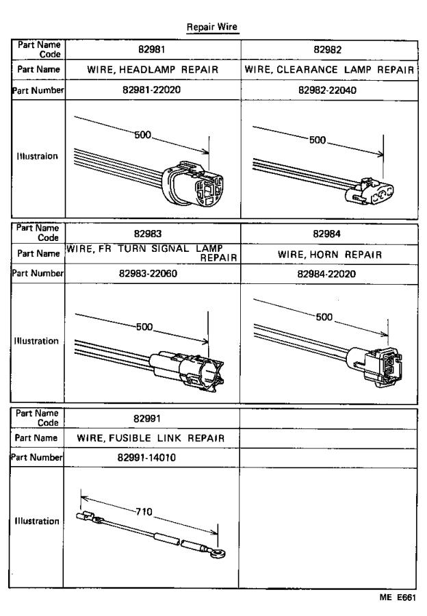 Diagram WIRING & CLAMP for your Toyota