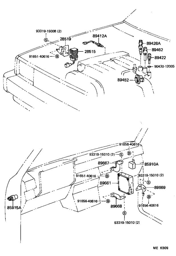 Diagram ELECTRONIC FUEL INJECTION SYSTEM for your 1989 Toyota 4Runner