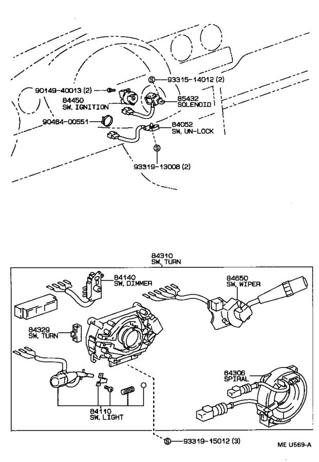 Diagram SWITCH & RELAY & COMPUTER for your 1992 Toyota Tercel Coupe