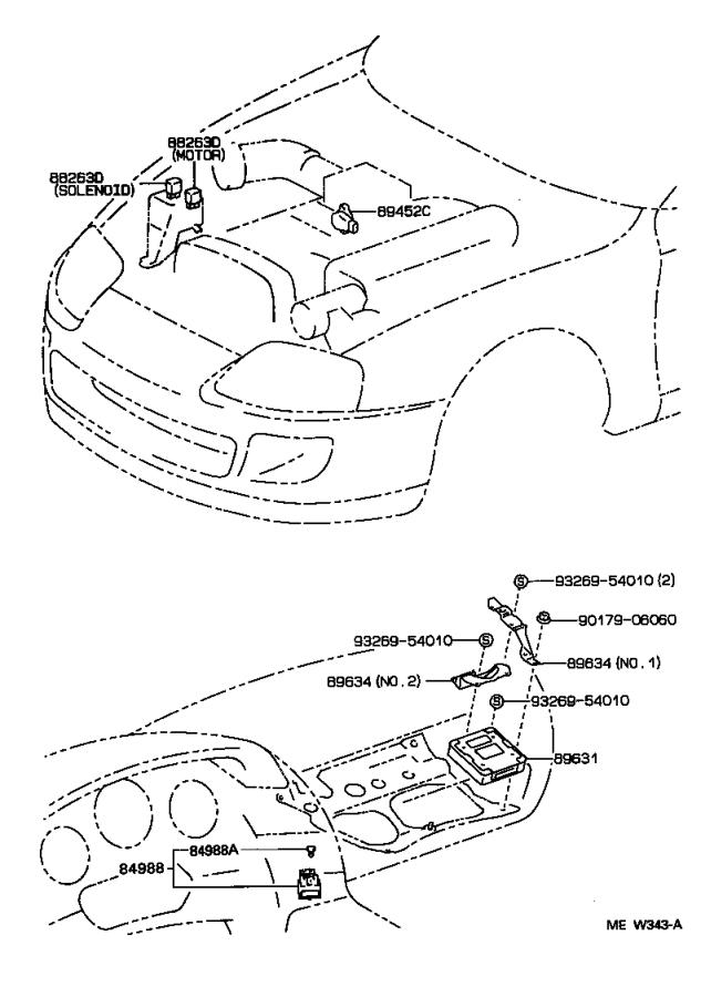 toyota supra suspension diagram