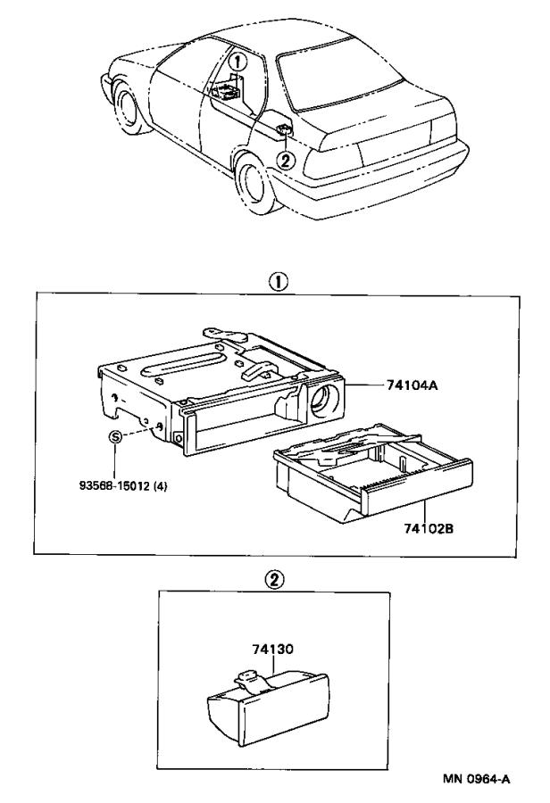 1991 toyota tercel retainer sub assembly front ashtray. Black Bedroom Furniture Sets. Home Design Ideas