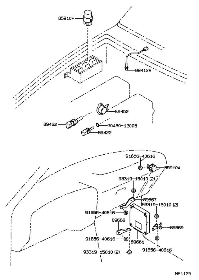 Diagram ELECTRONIC FUEL INJECTION SYSTEM for your 1993 Toyota 4Runner