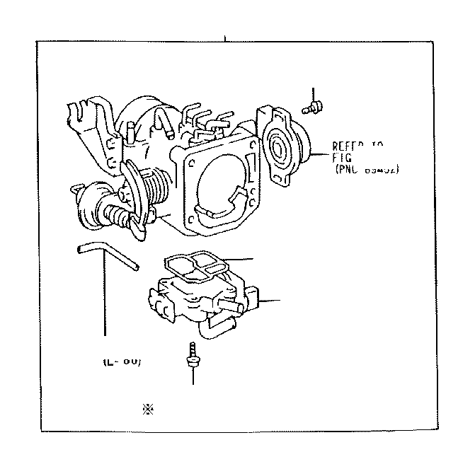 1998 toyota tacoma gasket  throttle body cover  system