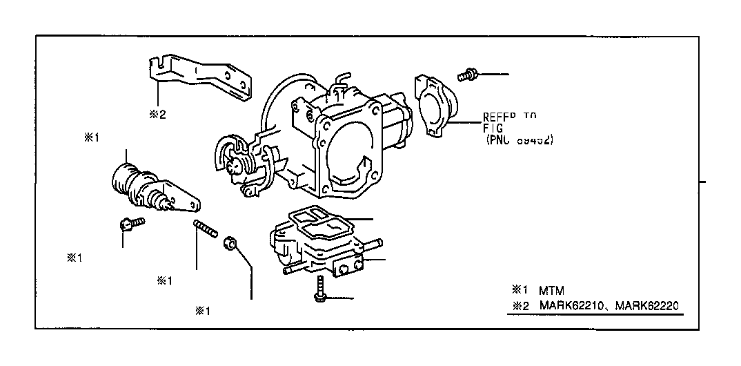 Toyota T100 Fuel Injection Throttle Body  System  Mtm
