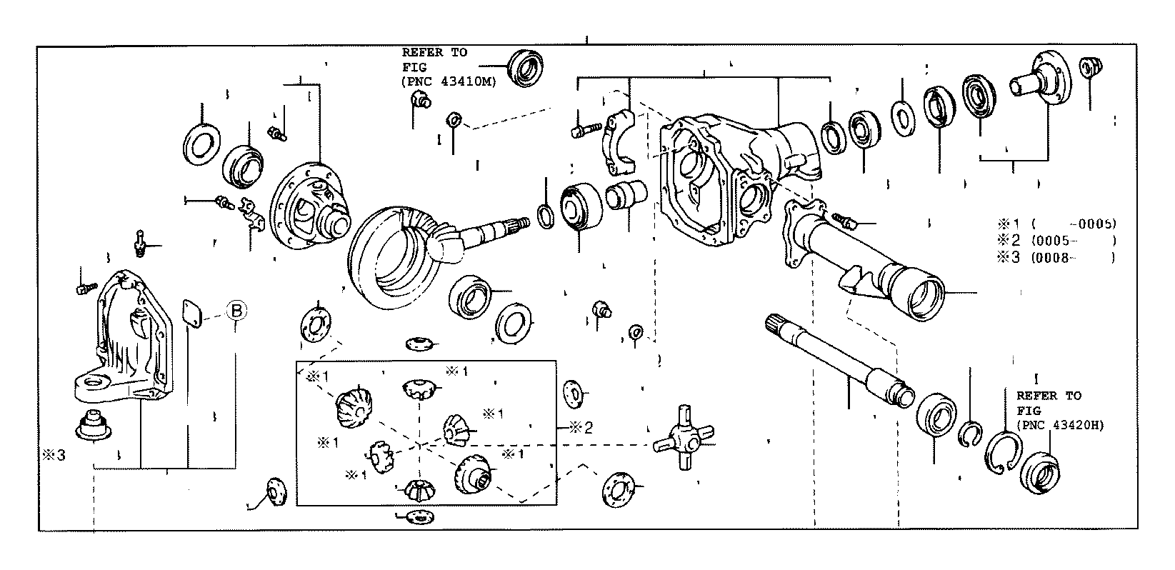 Toyota Sequoia Differential Pinion Seal  Front  Rear