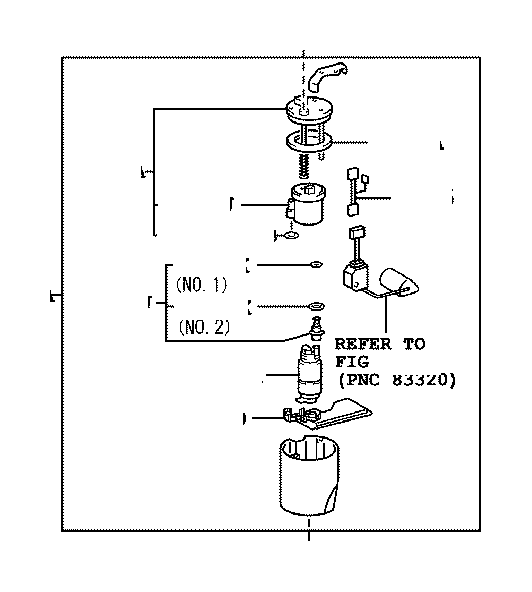 2003 toyota corolla pump  pump assembly  fuel  system