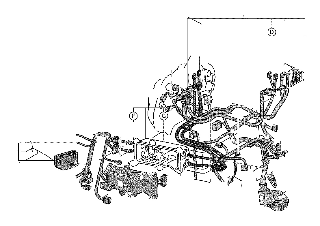 2013 Toyota Highlander Connector  Wiring Harness