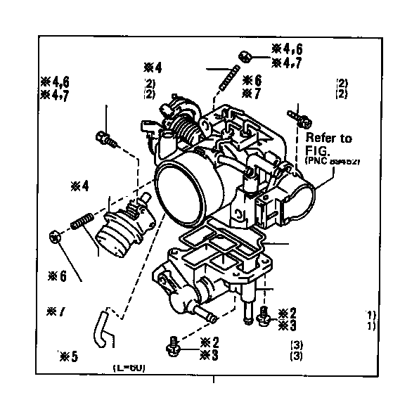 1990 Toyota 4runner Fuel Injection Idle Air Control Valve