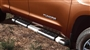 View Brushed Stainless Steel Stepboards - Crew Max. Running Boards.  Full-Sized Product Image