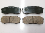 Disc Brake Pad Set (Rear). A set of disc brake pads. image for your 1996 Toyota Camry